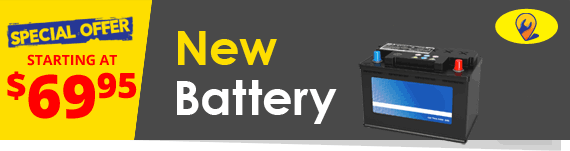 New Battery. Car Battery Replacement.
